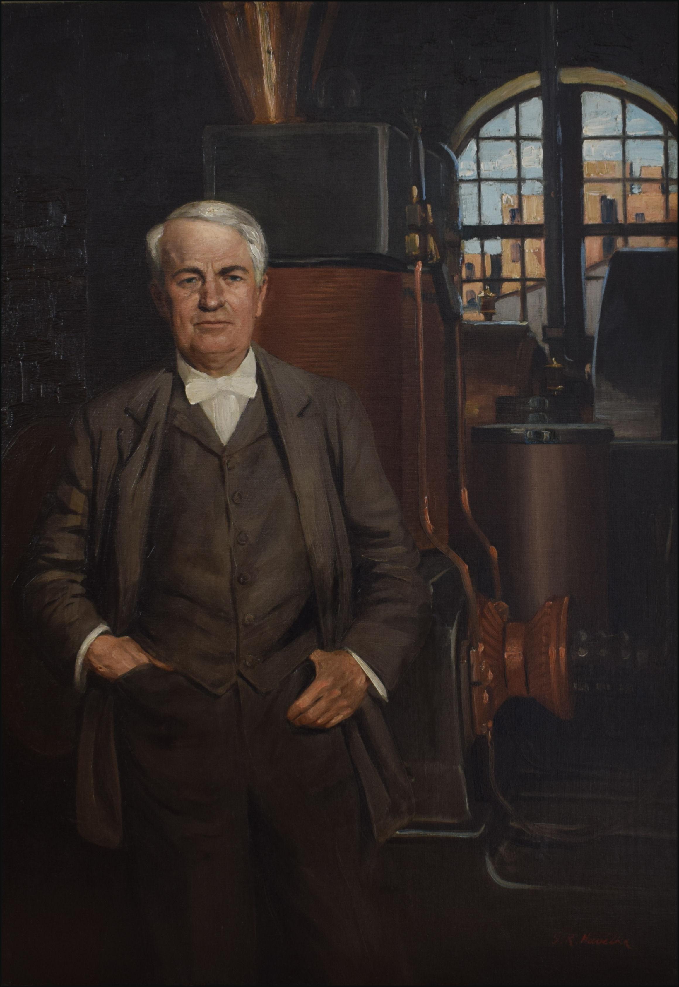 Portrait Of Thomas Alva Edison 1847 1931 Artware Fine Art