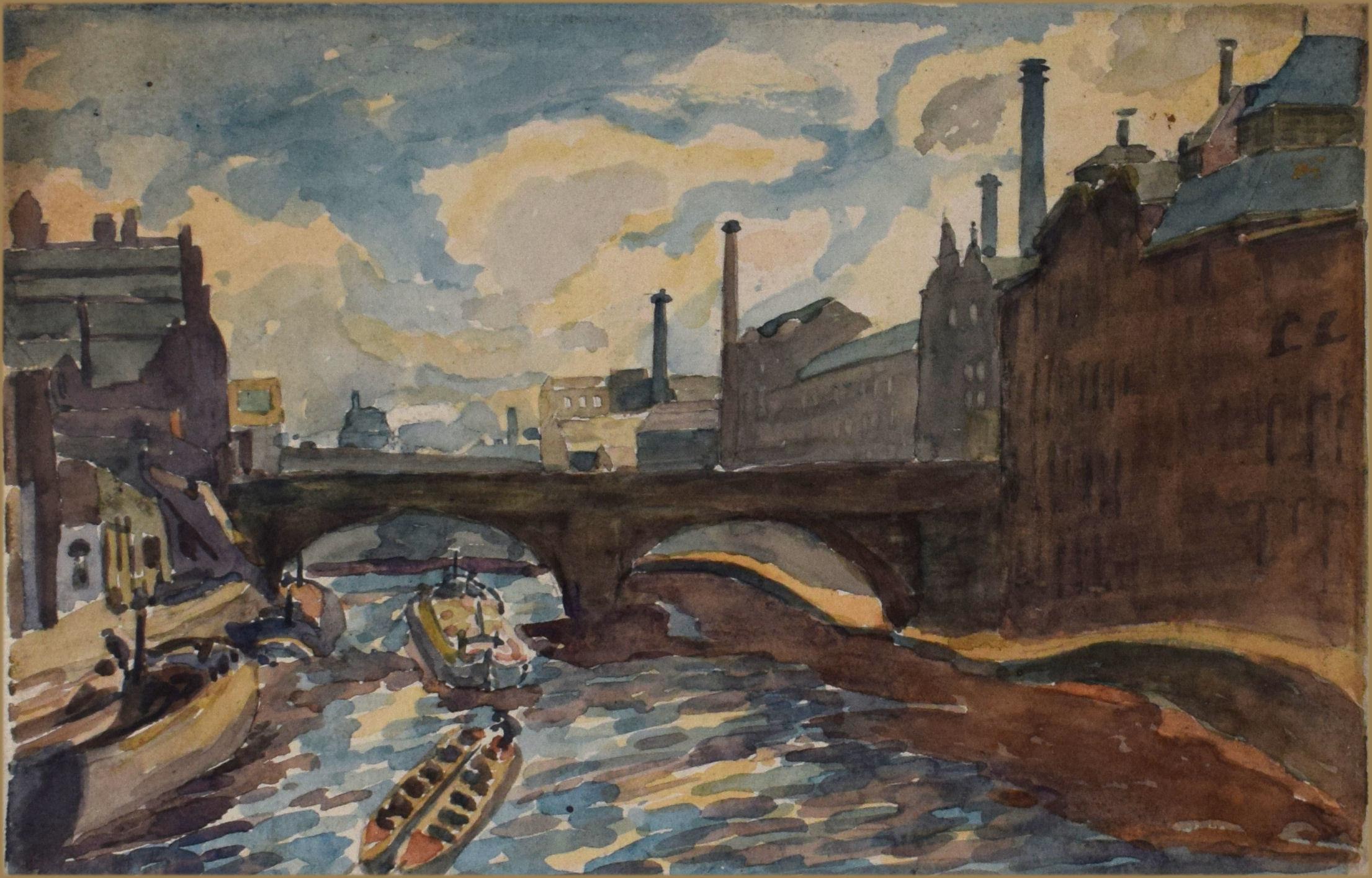 Regent Road Bridge over the River Irwell, Manchester June 1929